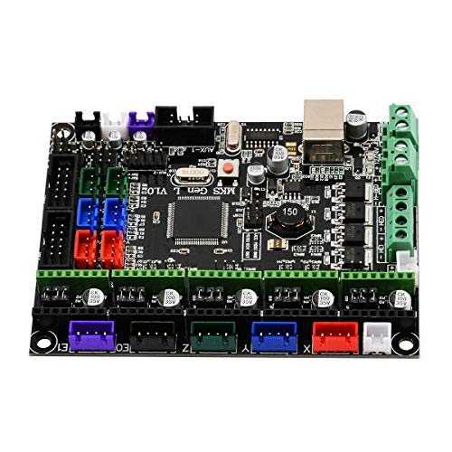 CUHAWUDBA Scheda di Controllo Stampante 3D Mks Gen L V1.0 Integrate Ramps Motherboard 12 / 24V