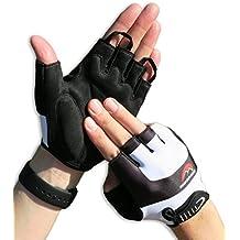 Radsport Handschuhe Herren und Damen, Fahrradhandschuhe für Rennrad, Mountainbike, Krafttraining, Fitness, Reiten, Crossfit, Bergsteigen, Sport, Fahrrad-Halbfingerhandschuhe mit hochwertiger Polsterung