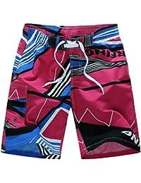 98ddaf7e5d Mounter Men Swim Trunks Shorts,Summer Casual Hawaii Drawstring Swim Shorts  Quick Dry Pants Elastic Watershort…