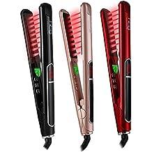 HTG HT087 Plancha alisadora de cabello profesional plancha de pelo plancha de cerámica turmalina iones negativos
