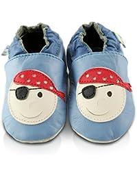 ab23e99dda6f1 Amazon.fr   Cuir - Chaussons   Chaussures bébé fille   Chaussures et ...