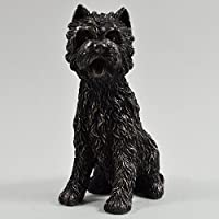 West Highland White Terrier Statua in bronzo piccolo cane animali domestici idea regalo H9 cm