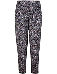 Womens Plus Size Floral Printed Ladies Elasticated Waist Long Pants Trousers