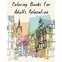 Coloring Books For Adults Relaxation Fantastic Skyline Classic Cities Book
