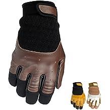 Biltwell Bantam piel Retro verano moto guantes, hombre, Tan / Black