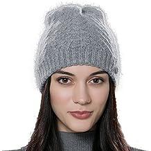URSFUR Unisex gorra no visera pasamontaña de lana de algodón otoño y invierno suave y elástico