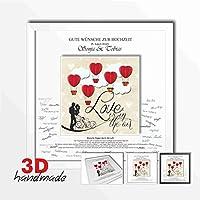 Bilderrahmen Hochzeit Gästebuch Luftballone
