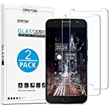 Moto G5s Plus Screen Protector[2 Pack], OMOTON Tempered Glass Screen Protector with [Scratch Resistant] [Crystal Clear] [Easy Installation] [Bubble Free] for Motorola Moto G5s Plus [5.5 Inch]