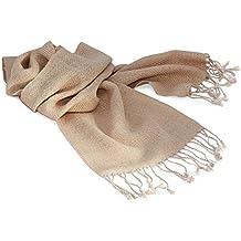 De alpaca Bufanda lana, teñidos Naturalmente, para hombres y femmes. gama de colores. beige talla única
