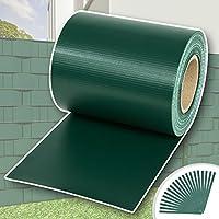TecTake Rollo aislamiento aislante PVC 19 cm de alto + clips de sujeción - varios modelos - (70m   verde   no. 401875)