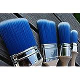 Fleur Paint 14023 - Brocha (fibra sintetica) color azul y blanco