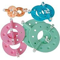 Ndier 4 Groesse Pom Pom Maker Fluff Kugelweber - zufaellige Farbe Sportprodukt