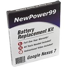 Kit de Reemplazo de la Batería para Google Nexus 7 (Asus Nexus 7, Nexus 7C) Tablet con Video de Instalación, Herramientas y Batería de larga duración