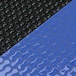 Copertura solare bubble wrap forma ovale 400µ 3,20m x 6,00m blu/nero GeoBubble piscina