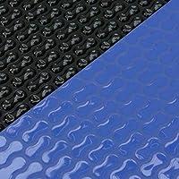 Copertura solare bubble wrap forma ovale 400µ 4,00m x 8,00m blu/nero GeoBubble piscina