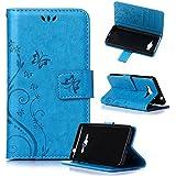 Beiuns Funda de PU piel para Samsung Galaxy Grand Prime (5 pulgadas) Carcasa - R149 azul hermoso