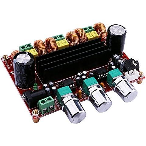 Yeeco TPA3116D2 2x50W + 100W Canal Digital Poder Audio Sereo Amplificador de la Junta, DC 12-24V Coche Estéreo Módulo AMP Para Sistema de Audio Altavoces DIY con Perilla de Columen; Disipador de Calor; 3.5 Entrada de audio / Conector de DC