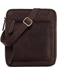 LEABAGS Exeter sac bandoulière rétro-vintage en véritable cuir de buffle