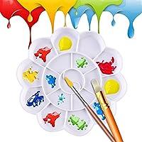 igemy 18 Grid plástico de acuarela pintura de aceite pintura bandeja Mezcla Paleta Artista Dibujo blanco