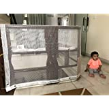 HIPPO Indoor Balcony Safety Net w Eyelets - White Color(Transparent) - 1 Piece (0.80 M X 4 M)