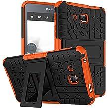 "KATUMO® Funda Samsung Tab A6 7.0"" Silicona, Crystal Clear Bumper Case Cover para Tablet Samsung Galaxy Tab A6 7.0""(SM-T280/285) Protectora Carcasa Dura Cubierta Funda de Piel (Anti-Golpes, Ultral Suave)-Naranja"