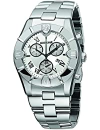 Roberto Cavalli Men's Diamond Chronograph Watch R7253616015 with Quartz Movement, Stainless Steel Bracelet and Silver Dial