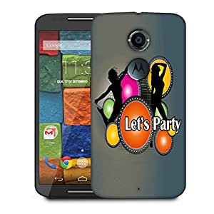Snoogg Lets Party Designer Protective Back Case Cover For Motorola Moto X2