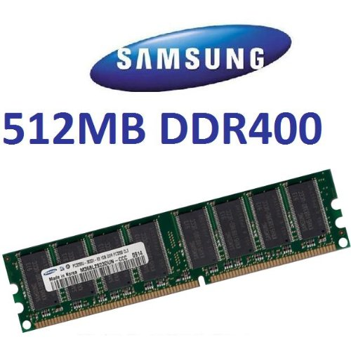 SAMSUNG original 512 MB 184 pin DDR-400 (400Mhz PC-3200 CL3) DIMM 64Mx8x8 single side für PC's - 100% kompatibel zu 333Mhz PC-2700 / 266Mhz PC-2100