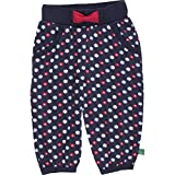 Fred's World by Green Cotton Baby-Mädchen Hose Flower Pants, Blau (Navy 019392001), 80