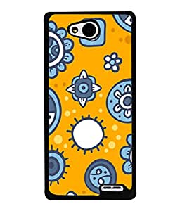 PrintVisa Designer Back Case Cover for LG L90 :: LG L90 Dual (Cute Flowers In Yellow And Grey)