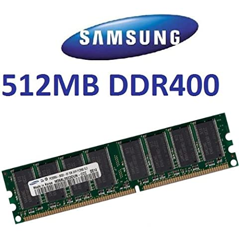 SAMSUNG original 512 MB 184 pin DDR-400 (400 mhz PC-3200 CL3) DIMM 64Mx 8 x 8 single side per tablet - 100% compatibile con 333 mhz PC-2700/266 mhz PC-2100