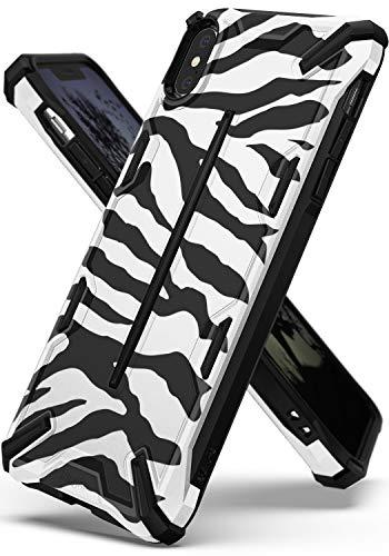 Ringke Dual-X Design Kompatibel mit iPhone XS [Zebra White] PC TPU Dual Layer Kratzfest Schwerlast Cover Stoßfest Case Ergonomisch Robust Stylish Panzer Handyhülle für iPhoneXs Schutzhülle Zebra Design Cover Case