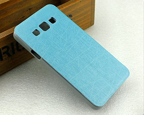 Heartly Premium Luxury PU Leather Flip Stand Back Case Cover For Samsung Galaxy A5 2015 SM-A500F – Power Blue