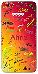 Ahna (Exist) Name & Sign Printed All over customize & Personalized!! Protective back cover for your Smart Phone : Asus Zenfone 2