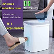 Home Intelligent Automatic Induction Rubbish Trash Infrared And Touch sensing Can Smart Waste Bins Kick Barrel