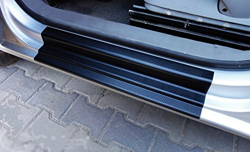 Türschwellerschutz für Caddy 2004-06/2015 aus schwarzem Kunststoff