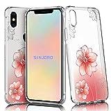 Sinjoro Coque iPhone XS Max, Ultra Mince Motif de Fleurs Claires TPU Souple Coque,...