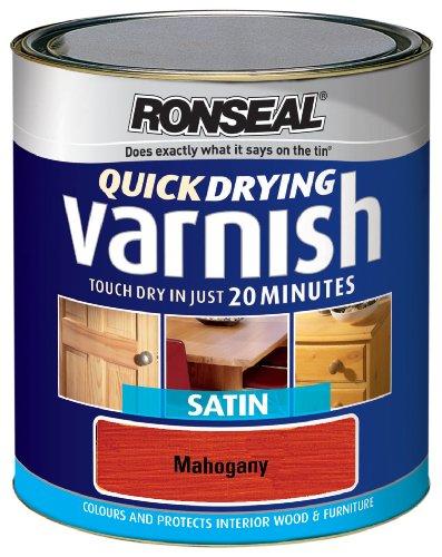 Ronseal qdvsm250Lackfarbe 250ml Quick Dry Lack Farbige Satin–Mahagoni (Satin Lack Farbigen)