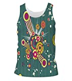 Snoogg Music Blast Mens Casual Beach Fitness Vests Tank Tops Sleeveless T shirts