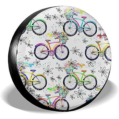 Gemma Cook Car Tire Cover Copriruota per Ruota di scorta Universale per Copertura di Pneumatici per Auto ibride per Biciclette per la Maggior Parte dei Veicoli (14-17 Pollici)