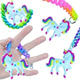 German-Trendseller ® 1 x jelly porte-clé licorne┃le couleurs de l'arc en ciel ┃pendentif┃ porte-bonheur┃l'anniversaire d'enfant ┃petit cadeau┃Party Loot