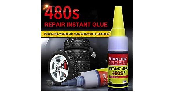 riempimento di nodi e vuoti TaiRi Mighty Tire Repair Glue 480s Premium gomma indurita colla super colla Plus per falegnameria pneumatici per auto RC