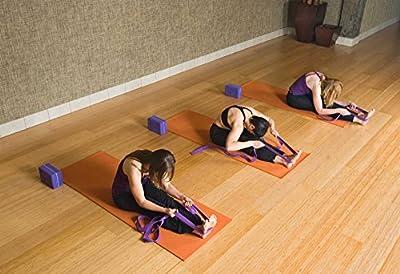 Yogagurt »Yaro« stabiler Metallverschluss Länge 1,9m / 2,5m / 3m - in zwölf Trendfarben! Ideale Yogazubehör für Dehnübungen & komplizierte Asanas
