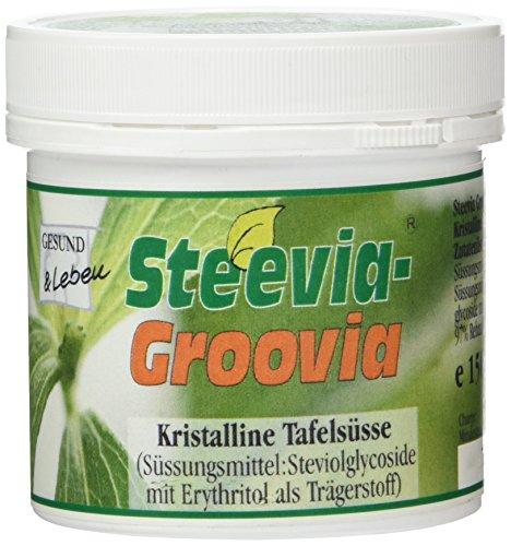 Gesund&Leben Steevia Groovia (weißes kristallines Pulver) 150g Dose, 1er Pack (1 x 150 g)