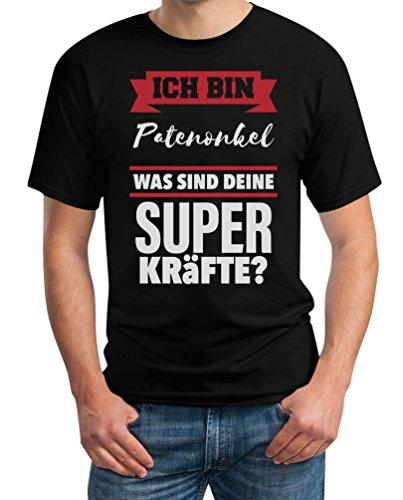 Geschenke für Patenonkel-Ich bin Patenonkel was sind deine Superkräfte ? T-Shirt Schwarz
