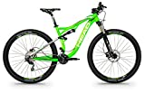 Mountainbike vollgefedert 29Zoll Head Adapt Edge I Grün Matt/Grau, S