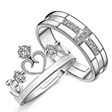 #10: 19 Likes Silver Plated Couple Ring For Women & Men