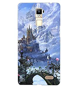 ColourCraft Castle Design Back Case Cover for OPPO R7