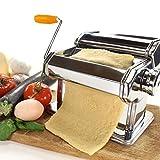 Manuelle Nudelmaschine Edelstahl Pasta Maker Pastamaschine Nudel Maschine für 7 verschiedenen Nudelstärken