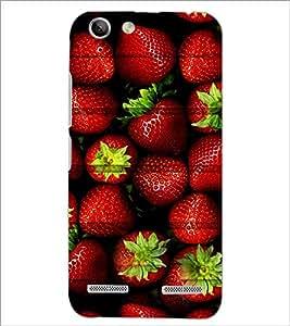 PrintDhaba Strawberries D-3426 Back Case Cover for LENOVO LEMON 3 (Multi-Coloured)